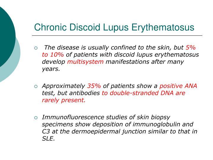 Chronic Discoid Lupus Erythematosus