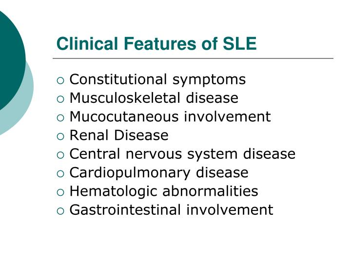 Clinical Features of SLE
