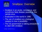 smallpox overview