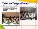 taller de terapia floral