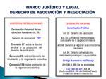 marco jur dico y legal derecho de asociaci n y negociaci n