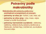 potraviny podle makrobiotiky