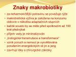 znaky makrobiotiky