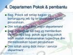 4 departemen pokok pembantu