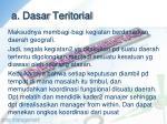 a dasar teritorial