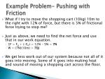 example problem pushing with friction
