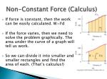 non constant force calculus