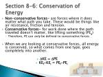 section 8 6 conservation of energy