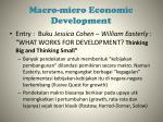 ma cro micro e conomic development