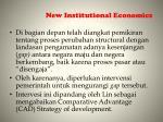 new institutional e conomics