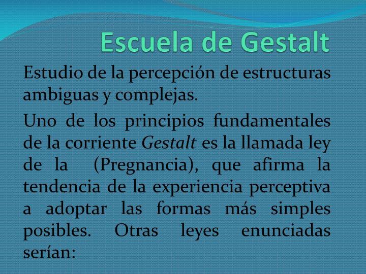 Escuela de Gestalt