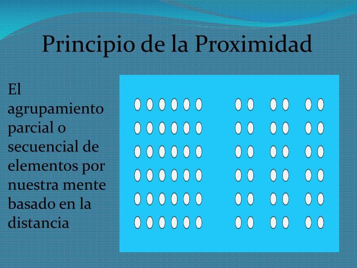Principio de la Proximidad