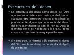 estructura del deseo