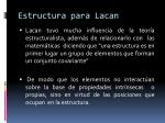 estructura para lacan