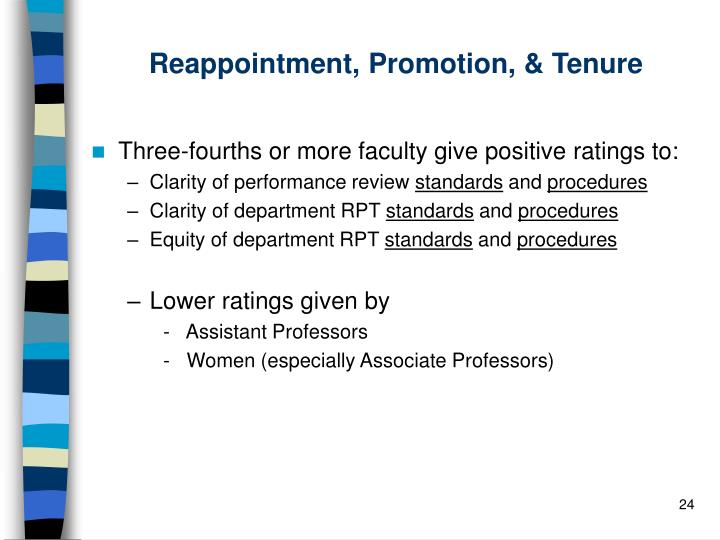 Reappointment, Promotion, & Tenure