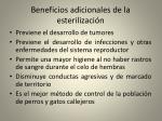 beneficios adicionales de la esterilizaci n