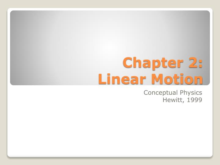 chapter 2 linear motion n.
