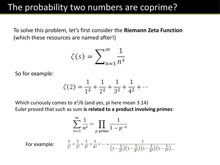 The probability two numbers are
