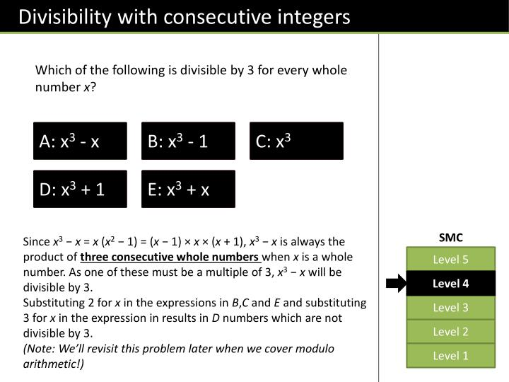 Divisibility with consecutive integers