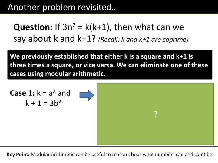 Another problem revisited…
