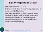 the average rank model