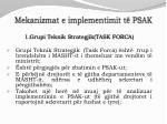 mekanizmat e implementimit t psak