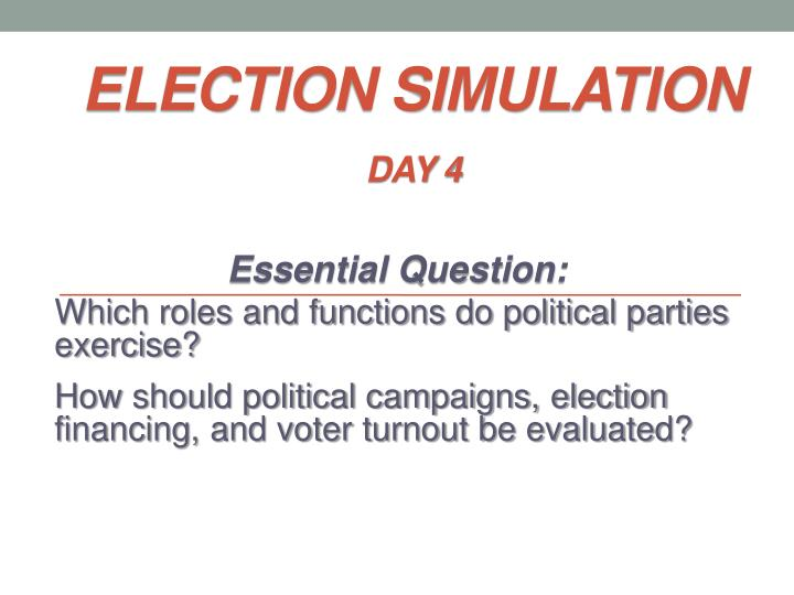 election simulation day 4