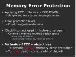 memory error protection