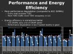 performance and energy efficiency