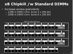 x8 chipkill w standard dimms