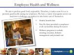 employee health and wellness