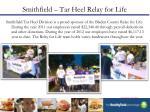 smithfield tar heel relay for life