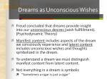 dreams as unconscious wishes