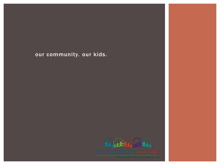 our community our kids n.
