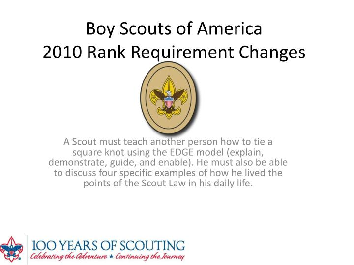 Ppt boy scouts of america 2010 rank requirement changes for Cub scout powerpoint template