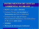 instrumentos de gest o ambiental no brasil cont