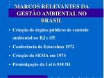 marcos relevantes da gest o ambiental no brasil