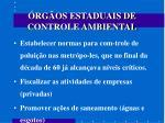 rg os estaduais de controle ambiental