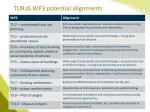 turas wp3 potential alignments