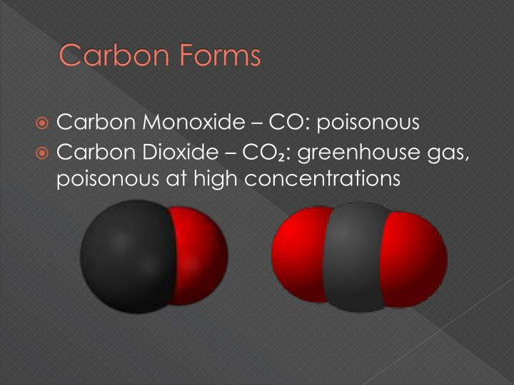 carbon forms n.
