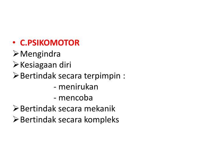 C.PSIKOMOTOR