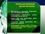 persoalan mendasar sektor pertanian