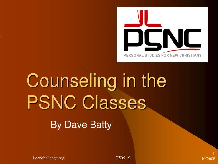 counseling in the psnc classes n.
