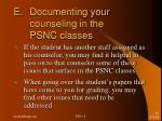 e documenting your counseling in the psnc classes2