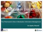 the pharmacist s role in medication information management