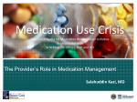 the provider s role in medication management