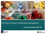 the role of nurses in medication management