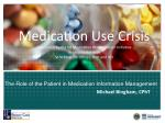 the role of the patient in medication information management