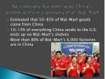 no company has embraced china s potential more vigorously than wal mart