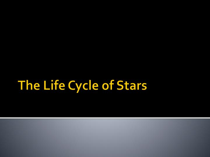 the life cycle of stars n.
